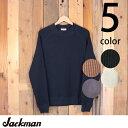 ジャックマンJackmanワッフルミッドネック長袖セータースウェットTシャツJM7653