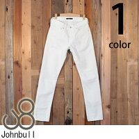 ジョンブルJohnbullタイトストレートオーセンティックホワイトデニムジーンズ11815