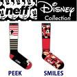 ネフ ディズニーコラボ NEFF x DiSNEY ソックス メンズ 26-28cm PEEK SMILES シリーズ 靴下 ネフ スノーボード 帽子【s8】