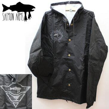 サーモンアームズ フードコーチジャケット パーカー  SALMON ARMS  hoodie jacket coach  ブラック  スノーボード 【C1】【s9】
