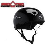 スケボー ヘルメット PROTEC HELMET CLASSIC SKATE グロスブラック (子供用)(女性用)(大人用)(スケートボード)(インライン)【s7】