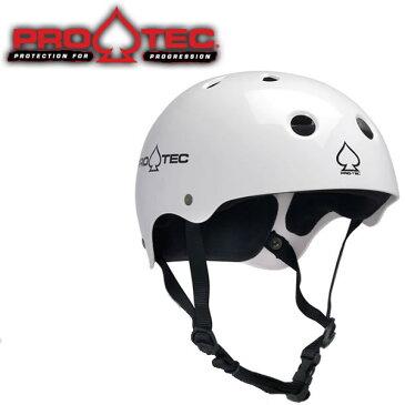 スケボー ヘルメット PROTEC HELMET CLASSIC SKATE グロスホワイト (子供用)(女性用)(大人用)(スケートボード)(インライン)(自転車)(BMX)【s4】