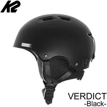 K2 ケーツー ヘルメット 2019 VERDICT ブラック バーディクト 18-19 K2 helmet スキー&スノーボードヘルメット スノー用品 【C1】【s5】