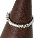 【中古】ハーフエタニティリング指輪レディースPt900プラチナ900ダイヤモンド13号12P計0.50ct重量約2gNTBランク