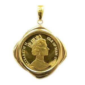 [Использовано] K24 чистое золото Золотая монета с изображением кошек-человечков 1/5 унции золотая монета подвеска верхняя рамка K18 10,2 г ранг KA B