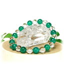 緑めのう(瑪瑙) 水晶 8mm ブレスレット 緑めのう(瑪瑙) 水晶 天然石 パワーストーン 緑めのう(瑪瑙) 水晶 天然石ブレスレット パワーストーンブレスレット 天然石 パワーストーン ブレスレット 緑めのう(瑪瑙) 水晶