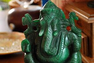 【一点もの!】ガネーシャ(アベンチュリン)手彫り置き石天然石パワーストーン
