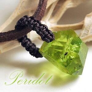宝石質ペリドット編み込みペンダントトップネックレス天然石パワーストーンペリドット8月の誕生石