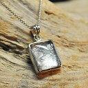 ギベオン隕石(メテオライト) 水晶コーティング (シルバー925)<天然石ペン...