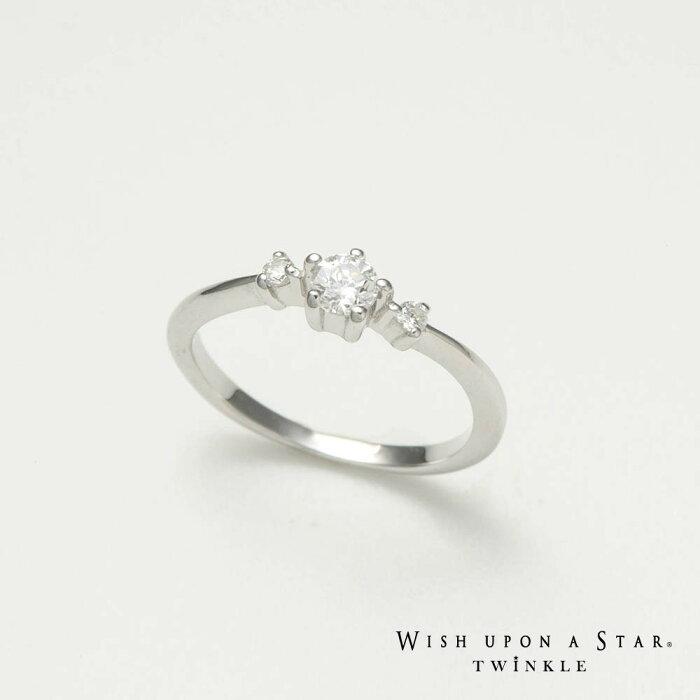 【Wish upon a star Twinkle】【ViVi掲載商品】スリーストーンシルバー925リング