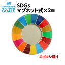 SDGS ピンバッジ 2個入り(25mmサイズ・マグネットタイプ)(エポ盛)#004