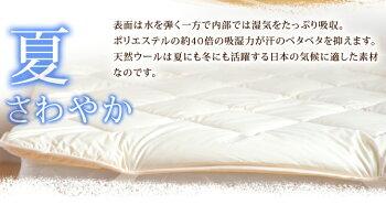 丸洗いできる♪ベッドパッドとボックスシーツの2点セット