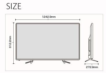【送料無料】テレビ 55V型 3年保証 2K フルハイビジョン 直下型LED 3波 地上・BS・110度CS 外付けHDD録画機能対応 地上デジタル 地デジ フルハイビジョンテレビ 55型 55V 55インチ LED液晶テレビ 解像度:1920×1080 幅124.2cm 薄型 TV