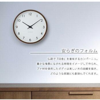 【送料無料/即納】時計壁掛け掛け時計掛時計電波時計LEMNOS(レムノス)/Rikiclock(リキクロック)渡辺カデザイン電波時計細字M(φ30.5mm)おしゃれシンプル人気