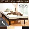 【送料無料】 高さ調節 すのこベッド ポケットコイル マットレス付き シングル フレーム ベッド すのこ ローベッド 木製 ベット ベッドフレーム シングルベッド 北欧 シンプル すのこベット マットレス ポケットコイルマットレス コイル