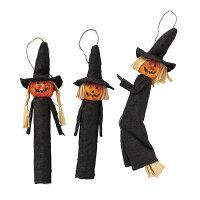 ハロウィンオーナメント 魔女 3個セットかわいいハロウィンモチーフのオーナメントで手軽に店内を装飾できます。ハロウィン 装飾 飾り 雑貨 オブジェ インテリア ディスプレイ