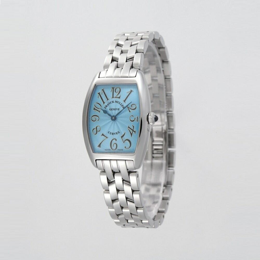 [フランクミュラー]新品・純正BOX付 FRANCK MULLER 腕時計 トノーカーベックス スカイブルー/ステンレスブレス 1752QZ レディース 【並行輸入品・1年保証】
