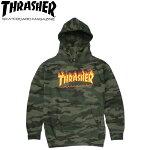 【THRASHER】FLAMEPULLOVERHOODSWEAT(F.CAMO)(スラッシャーパーカープルオーバーフードスウェットカモ)20s