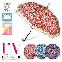 日傘晴雨兼用uvカット99%かわいいレディース【アップル総柄日傘かわいい日傘おしゃれ日傘婦人日傘遮熱遮光】