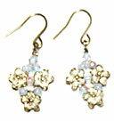 Bead accessories Silver Flower Earrings (Alexandrite AB)