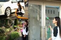 【2000円以上送料無料】首振りガーデンコイルホーススタンドセットグリーン12mF7427【smtb-k】【ky】