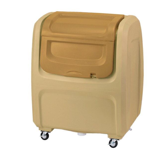 【2160円以上送料無料】セキスイ 業務用大型ゴミ箱 ダストボックスDX キャスタータイプ ベージュ #500 500L DX5BE:ショップトレード