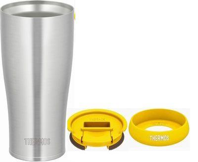 THERMOS(サーモス)『真空断熱タンブラー 420ml(JDE-420)+フタ・ソコカバーイエローセット』