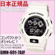 送料無料!【日本正規品】 GMN-691-7AJF カシオ CASIO G-SHOCK mini(ジーショック ミニ) 腕時計 ホワイト 10気圧防水