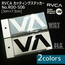 【送料200円可能】RVCA(ルーカ) 品番:R00-S06 カッティングステッカ− BLK(ブラック)/WHT(ホワイト) シール ルカロゴステッカー スモールサイズ 型抜き 日本正規品