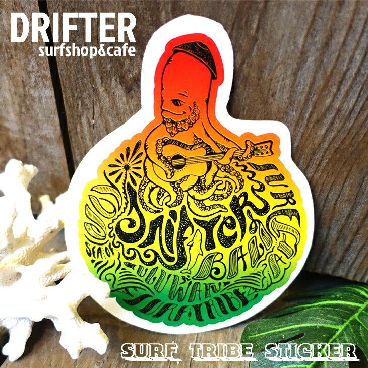 DRIFTER surf shop & cafe ドリフター サーフショップアンドカフェ ラスタギター ロブ・マチャド SURF TRIBE アートステッカー ステッカー サーフィン シール バリ島 BALI Rob Machado ART STICKER画像