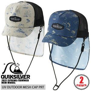 21 QUIKSILVER クイックシルバー サーフキャップ UV OUTDOOR MESH CAP PRT メッシュキャップ マリンキャップ 帽子 UVカット UPF50+ 水陸両用 日焼け対策 メンズ 2021年春夏 品番 QSA211756 日本正規品
