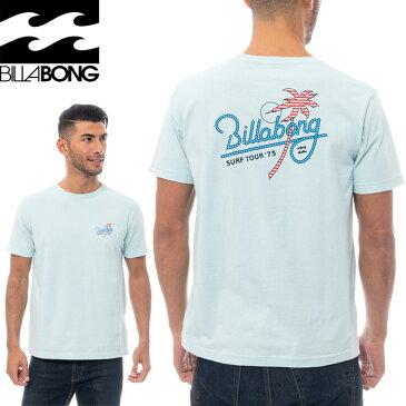 ビラボン メンズ SURF TOUR Tシャツ 半袖 バックプリント クルーネック 綿100% BA011233