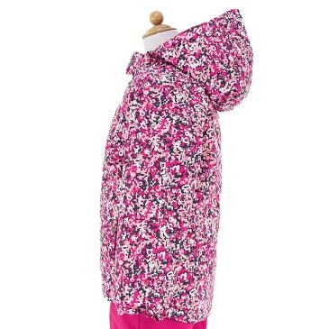 コロンビア キッズ スキーウエア 上下セット 子ども用 スノーボードウエア ピンク 花柄 COLUMBIA SY1092