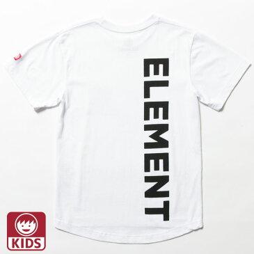 【メール便OK】エレメント キッズTシャツ KIDS 裾長め ジュニア ラウンドカット 白 スケボー トレンド