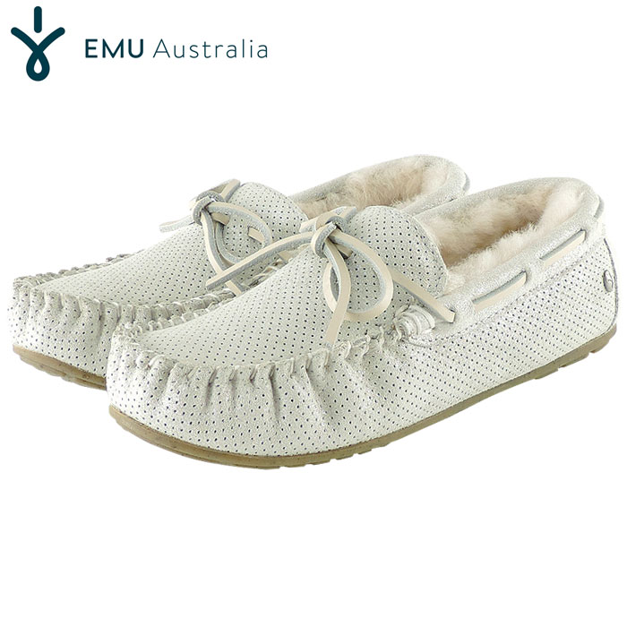 emu エミュー アミティー モカシン シープスキン シルバー メタリック ムートン emu Amity Denim W11438