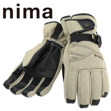 スノーグローブ ベージュ スノーボードグローブ スキーグローブ レディース 防水 五本指 NG-206 手袋