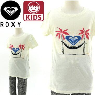 ROXY(ロキシー) ガールズTシャツ 100 110 120 ROXY KIDS Tee (TW BASIC CREW 白) キッズ半袖ティーシャツ