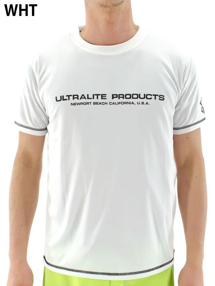 メンズ-半袖-ラッシュガード-ラッシュTシャツ-UVカット-日焼け防止-速乾吸収-プール-海-ジム-水着-Tシャツ