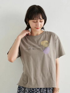【earth music&ecology】Take time to smell BOX Tシャツ レディース アースミュージックアンドエコロジー アースミュージックエコロジー 春夏 夏 2021【 2,000円(税込)以上で 送料無料 】