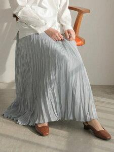 【 送料無料 】【AMERICAN HOLIC】丈違いワッシャープリーツスカート レディース アメリカンホリック アメホリ 春夏 春 2021