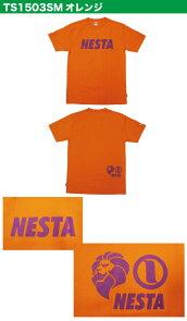 ネスタブランド(nesta)のプリントTシャツ!オレンジに紫のプリントが目立つこれからの季節に大活躍の半袖Tシャツ☆夏コーデにピッタリの1枚☆オレンジの全1枚/TS1503SM:STROLL【ストロール】STL