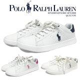 ポロ ラルフローレン POLO Ralph Lauren ラルフ スニーカー 靴 合皮 白 ネイビー ピンク グレー ポニー 刺繍 シューズ ワンポイント / rfs10809 rfs10807 rfs10808