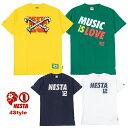 【スーパーセール】ネスタブランド 半袖Tシャツ メンズ 綿100% ストリート系 全4色 M/L/XL 正規品 NESTA