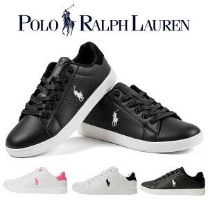 [セール] ポロ ラルフローレン スニーカー QUINCEY COURT 歩きやすい 合成皮革 ローカット 白/黒/ネイビー/ピンク シンプル キレイめ rf100424