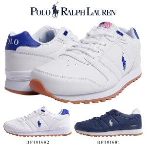【SALE】ポロ ラルフローレン スニーカー ORION 歩きやすい 合成皮革 ローカット 白/ネイビー シンプル キレイめ rf101681