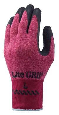 341ライトグリップ(レッド)10双Sサイズ天然ゴムコーティング手袋ショーワグローブショーワスベリ止め抗菌防臭抗菌1双個装