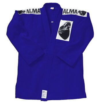 格闘技 用品 ALMA 海外製柔術着(白帯付き) A0号〜A2号 青 strongsports