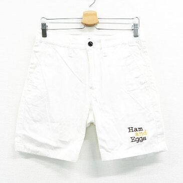 rough&swell ラフアンドスウェル ハーフパンツ ホワイト系 S 【中古】ゴルフウェア メンズ