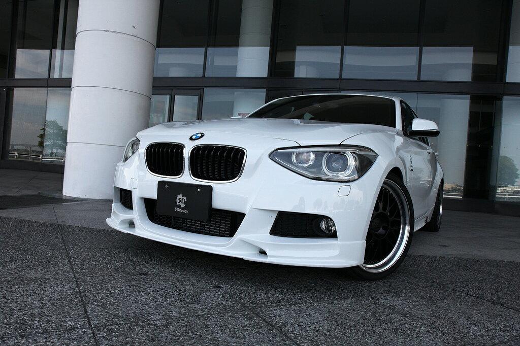 3D Designフロントリップスポイラー for BMW F20 M-SPORT 【送料無料】迫力のフロントフェイス♪