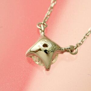 プラチナ1粒ダイヤモンドネックレス